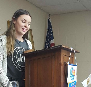 HCHS Lighthouse Team Member speaks to Rotary Club.