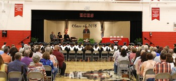 Class of 2018 sits during Commencement.