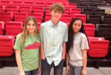 Three students were selected to participate in the HOBY program.