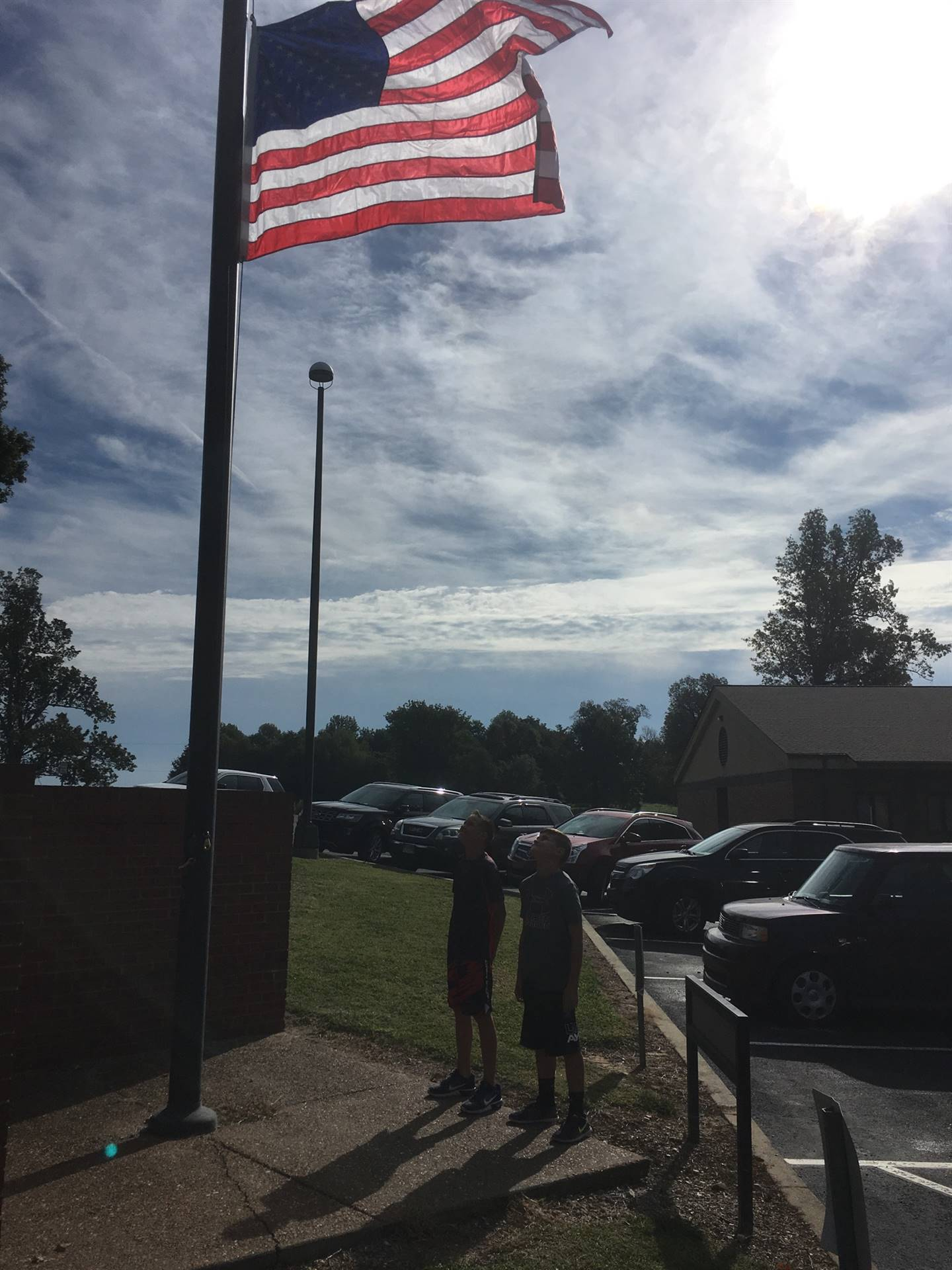 9/11 flag dedication