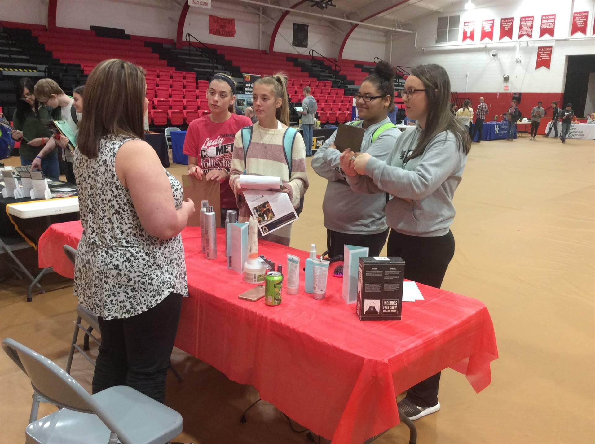 Students experience the Career Fair.