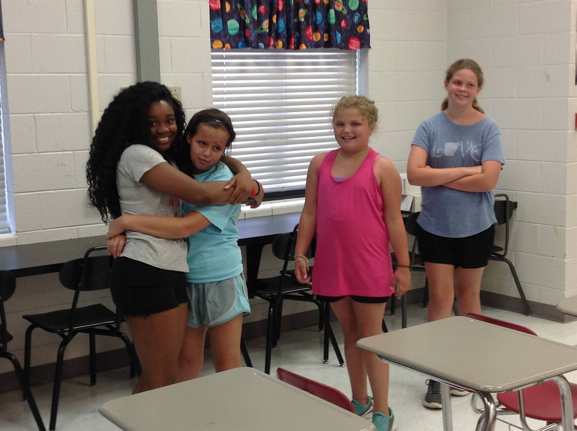 Students take a break from drama instruction during MADD Camp.