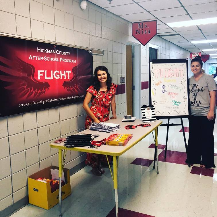 FLIGHT Director Cayce Batts and Assistant Kayla Roach