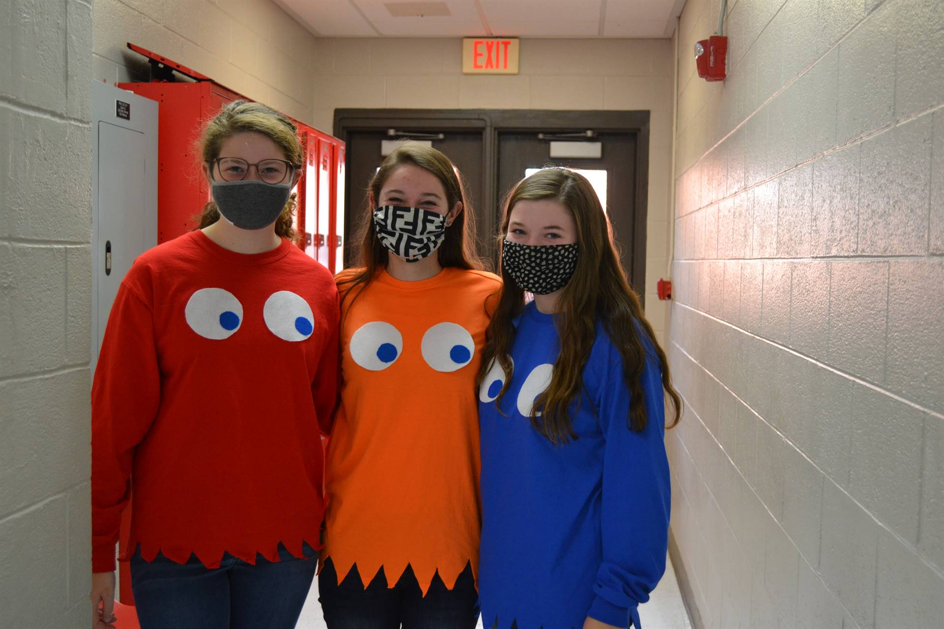 Three ghosts from Pac-man.