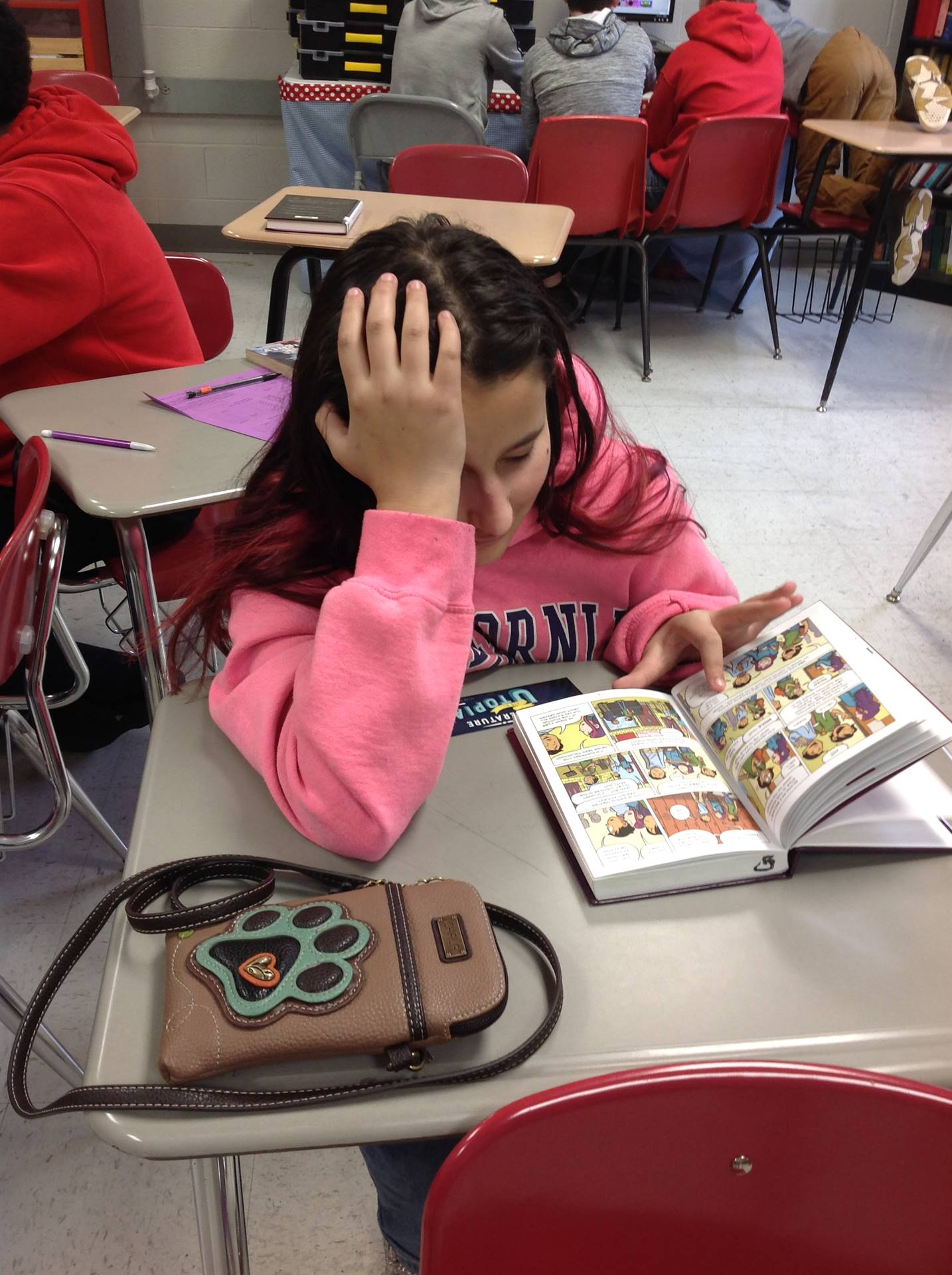 "This student was ""Caught Read-Handed."""